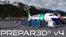 Prepar3D V4 2 Landing into Innsbruck Airport LOWI PMDG 737 800NGX WL P3D