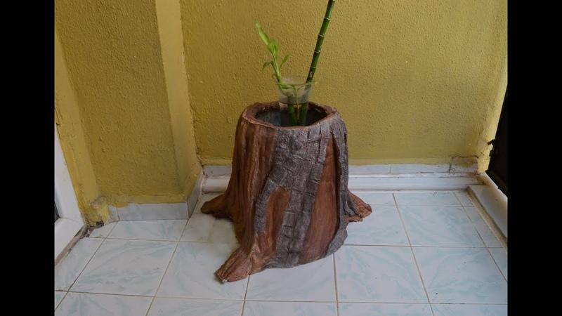 Çimento ile Ağaç Saksı Yapımı Detaylı Gösterim