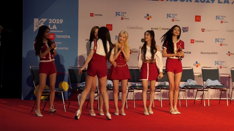 190817 2019 kcon LA izone artist engagement Part 2