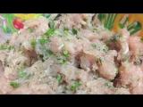Запеканка из гречки, шампиньонов и куриного фарша в сливочной заливке