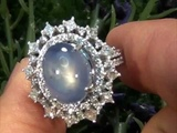 GIA Certified Unheated Ceylon Star Sapphire &amp Diamond Ring Solid 14K Gold Must Be Sold Immediately