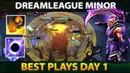 BEST PLAYS - DAY 1 - DreamLeague 10 Minor DOTA 2