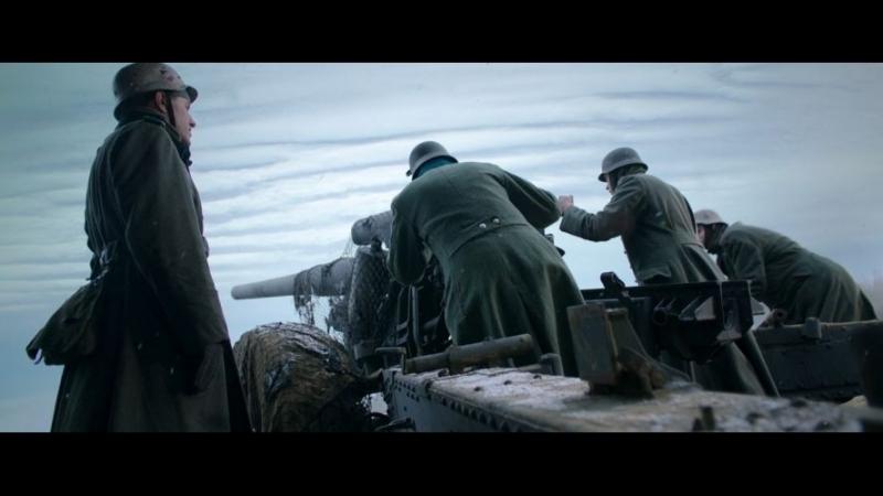 Немецкий артналёт на позиции панфиловцев