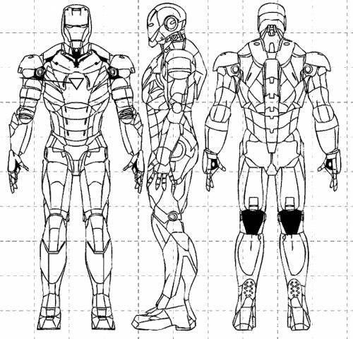 чертежи костюма железного