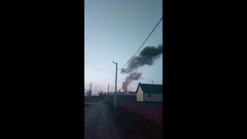 Рузаевка, на Кирзаводе взорвалась подстанция и загорелась