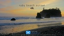 1 Hour Coastal Sunset in 4K Ocean Sounds by Nature Relaxation™ Washington State