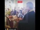 Молебен о животных с котом на аналое