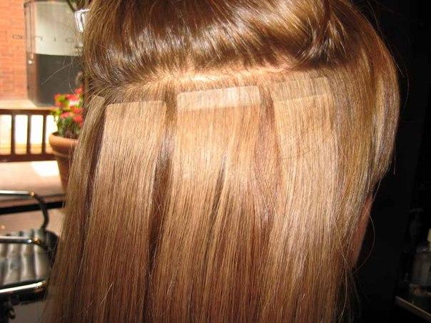 Волосы на ленте для наращивания