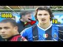 Dia que ibrahimovic conheceu Ronaldo fenômeno!Fã e idolo