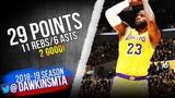 LeBron James Full Highlights 2019.02.21 Lakers vs Rockets - 29 Pts, 11 Rebs, 6 Asts! FreeDawkins