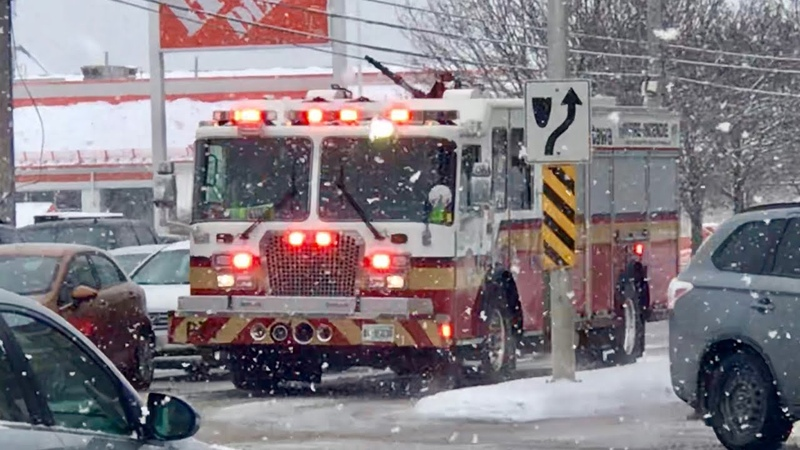 Ottawa Fire and EMS responding in snow
