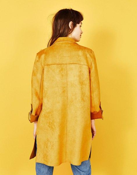 Пальто с подворачиваемыми рукавами