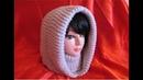 Glugă de damă, tricotată foarte ușor și rapid PARTEA A II-A