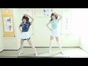 Two cute girl cosplay dance