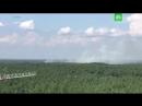 Тушение лесного пожара под Сестрорецком