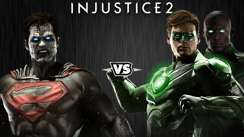 Injustice 2 - Бизарро против Зелёных Фонарей - Intros Clashes (rus)