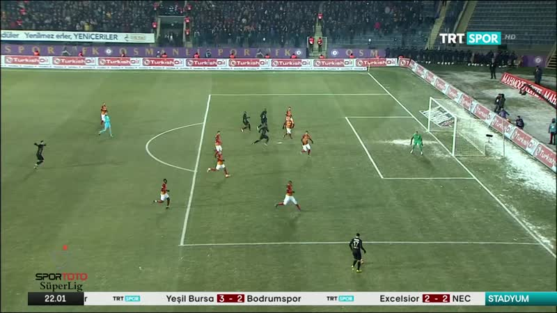 Osmanlispor - Galatasaray 15.hafta genis ozet 16/17