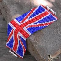 Бисероплетение британский флаг - Делаем фенечки своими руками.