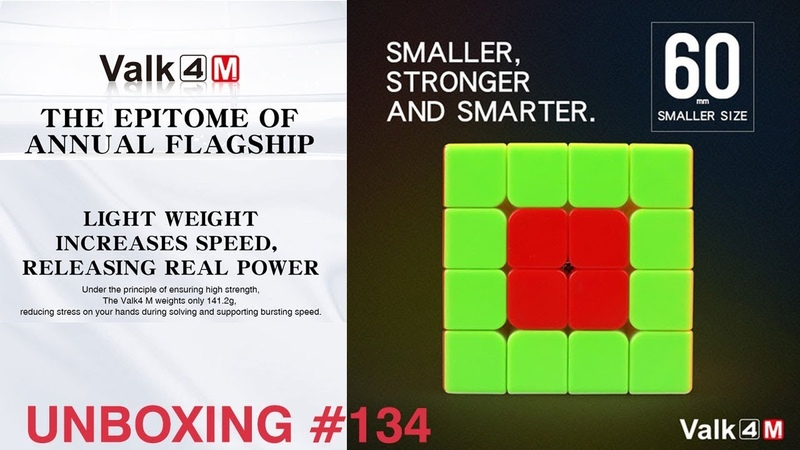 Unboxing №132 QiYi The Valk 4M - Strong Magnetic 4x4x4 cube