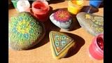 Рисуем на камнях.Орнаменты. draw on the stones. Ornaments.