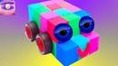 Сюрпризы Игрушки Машины Кинетический песок Учим цвета и цифры на английском Видео для детей