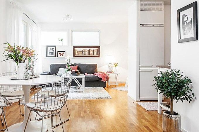 Интерьер квартиры-студии 30 м в Гётеборге / Швеция - http://kvartirastudio.