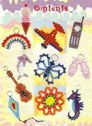 Мини-брелки из бисера Маленькие плоские фигурки из бисера.  Прекрасные брелки для ключей или аксессуары для мобильных...