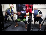 Ларри Уилс - присед 345 кг