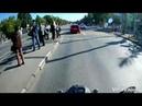 Опасная езда на мотоцикле - результат очевиден. Казань, август 2018г.