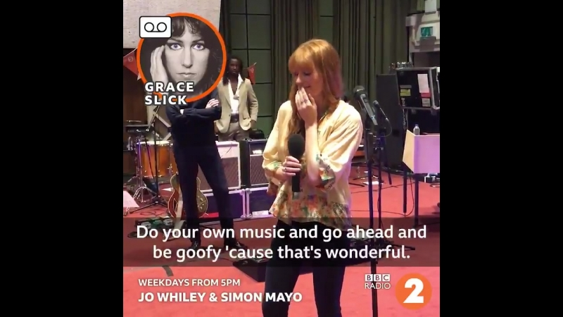 Grace Slicks message to Florence for BBC Radio 2