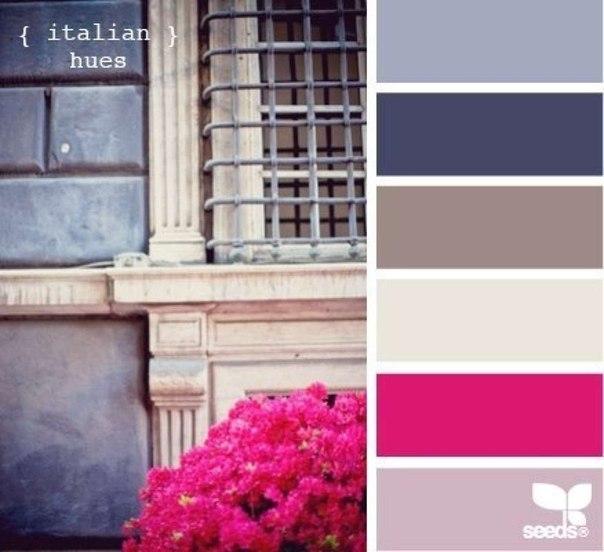 Совместимость цветов и оттенков.