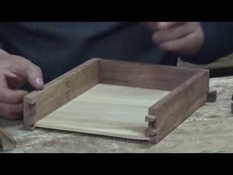 共十四集 (10)传统木工 【木工教学】手工制作五个抽屉的小柜 木工家具