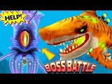 GIANT SQUID Boss Battle Hungry Shark World