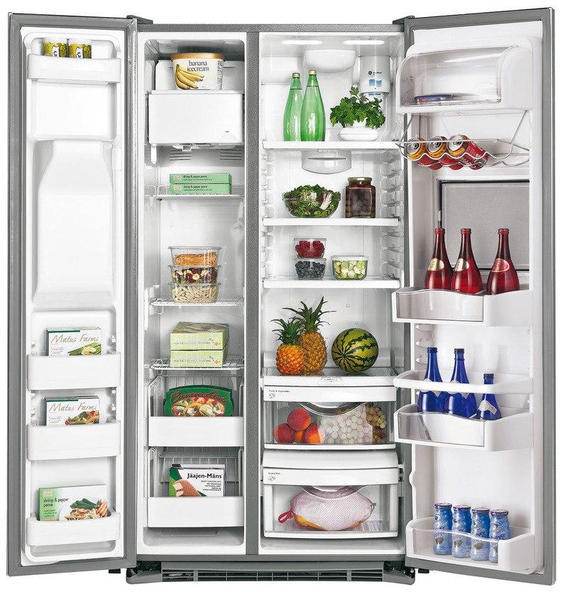 Красивый многокамерный холодильник