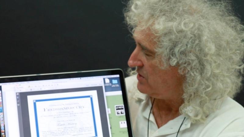 Brian May announces Asteroid 17473 Freddiemercury 04 09 2016