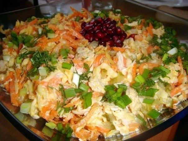 10 салатов с СЫРОМ! 1. Салат овощной с