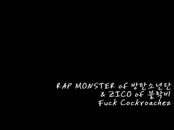 RAP MONSTER of 방탄소년단 ZICO of 블락비 - Fuck Cockroachez (필청 최고인듯)