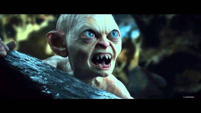 Bilbo e Gollum disputam uma jogo de adivinhas