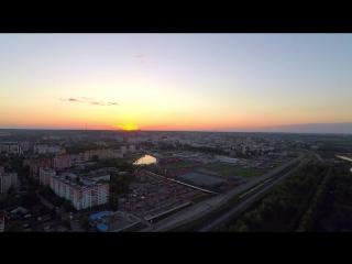 Закат в Саранске (Аэросъёмка)