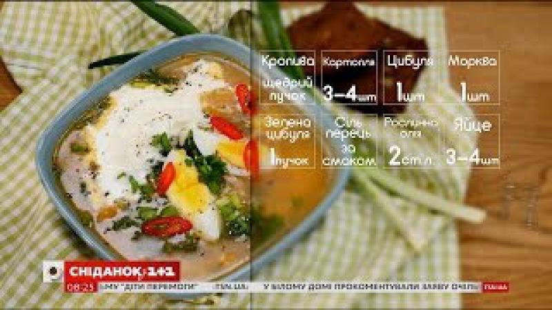 Весняний суп із молодою кропивою рецепти Насирова