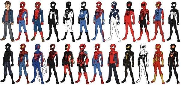 черный костюм человека паука картинки
