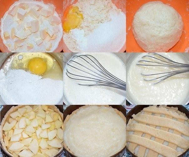 ВКУСНЕЙШИЙ Яблочный пирог с НЕЖНЕЙШИМ заварным кремом Тесто: 1