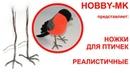 Реалистичные ножки для птичек легко