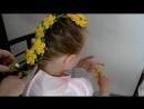 Мастер-класс Канзаши.Цветы Канзаши из атласных лент.Лента в косу-Kanzashi flowers from satin ribbons