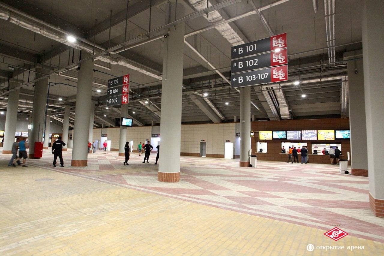 Обладатели абонементов впервые посетили спартаковский стадион «Открытие Арена» (фото)