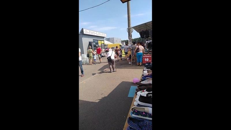 Украинская цыганка-растопырка, имитирующая ДЦП, побирается на Экспобеле
