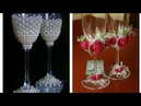 Stylish wine Glass Arrangement Beautiful Glass Decor ideas