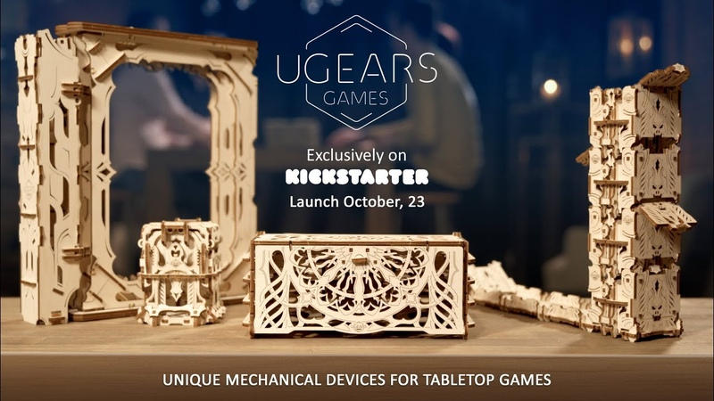 Ugears Presents Unique Mechanical Devices for Tabletop Games
