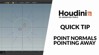 Houdini quick tip - point normals pointing away