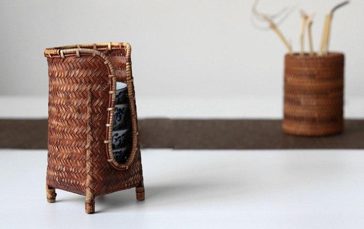 Плетеная стойка из бамбукового волокна -